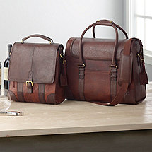3-Bottle BYO & 6-Bottle Weekender Leather Wine Bag Set