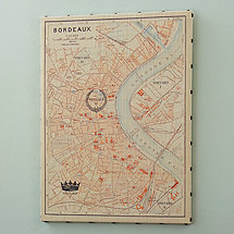 Bordeaux Stretched Canvas Map