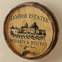 Personalized Vineyard Estate Barrel Head Sign