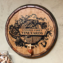 Personalized Harvest Barrel Head Sign