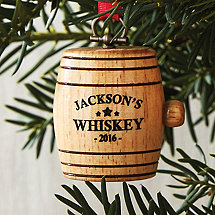 Personalized Mini Whiskey Barrel Ornament 2016