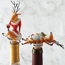 Blitzen & Vixen Bottle Stopper Set