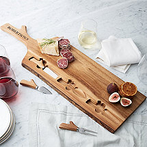Personalized Woodland Cheese Board and Knife Set