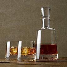 Diamond Whiskey Decanter & Glasses Set