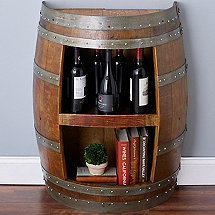 Reclaimed Half Barrel Book Case