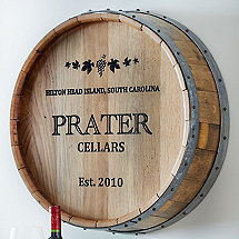 Personalized Deep Carved Quarter Barrel Head