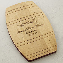 Personalized Wine Barrel Cheese Board