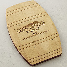 Personalized Whiskey Barrel Cheese Board