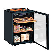 EuroCave Cigar Humidor (Black - Glass Door) (Outlet A)