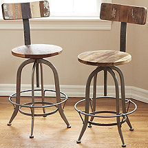 Repurposed Industrial Pub Stool