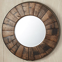 Reclaimed Barrel Stave Mirror