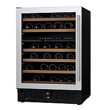 N'FINITY PRO S Dual Zone Wine Cellar Left Hinge Stainless Steel Door (Outlet A)