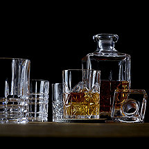 Nachtmann Whiskey Decanter Set with Stopper and Assorted Tumblers
