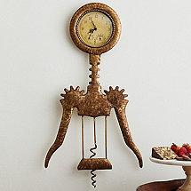 Winged Corkscrew Clock