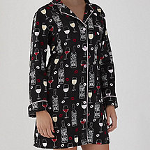 Women's Wine Time Pajama Nightshirt