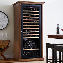 XL Custom Wine Cellar Cabinet With EuroCave Premiere L Wine Cellar