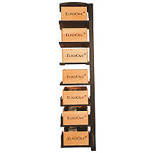 EuroCave Modulosteel 1 Column Wooden Box Sliding Shelf Add On Wine Rack