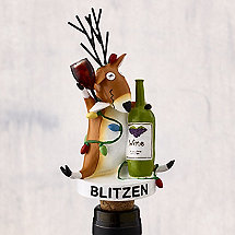Blitzen All Lit Up Bottle Stopper