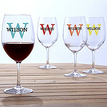 Personalized Indoor/Outdoor Wine Glasses
