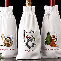 Woodland Creatures Wine Bags (Set of 3)