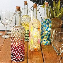 Wine Bottle Mosaics (Set of 4)