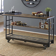 Vintage Factory Cart Bar
