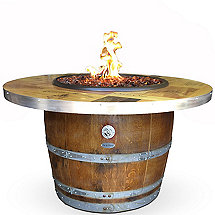 Reclaimed Barrel Winery Seal Fire Pit