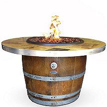 Reclaimed Barrel Winery Seal Fire Pit