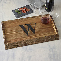 Personalized Woodland Live Edge Tray