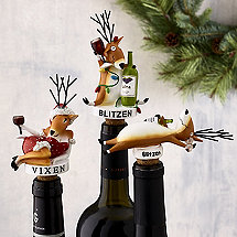Blitzen and Vixen Bottle Stoppers (Set of 3)
