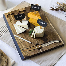 Chalkboard-Fronted Cheeseboard and Tools Set