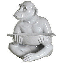 Chimp Tray Statue