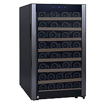 52-Bottle Evolution Series Wine Refrigerator Black Stainless Door (Natural Wood Shelves)(Outlet A)