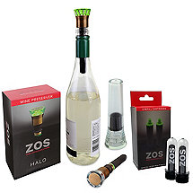 ZOS Halo Wine Preserver Bonus Pack With Free Oxygen Cartridge 2 Pack