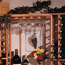 Redwood Modular Wine Rack Kit - Wine Glass Rack
