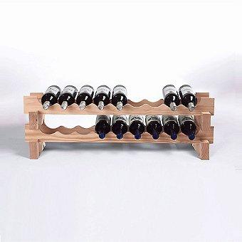 18 Bottle Stackable Wine Rack Kit (Natural)