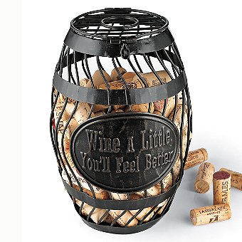'Wine A Little' Wine Barrel Cork Catcher