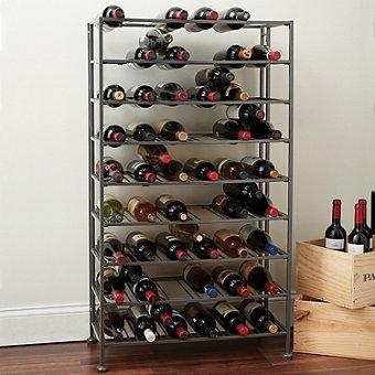 Free Standing Metal Wine Rack (126 Bottle) - Wine Enthusiast