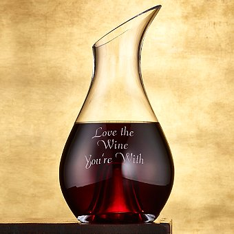 'Love The Wine You're With' Sentiments Wine Decanter