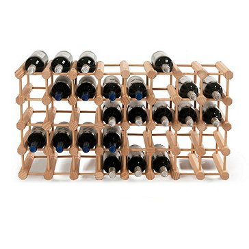 Modular 40 Bottle Wine Rack (Natural)
