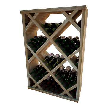 Napa Vintner Stackable Wine Rack - Diamond Bin w/Face Trim