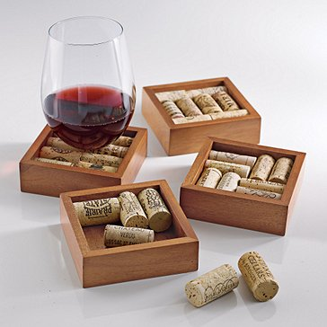 Wine Cork Coasters Kit (Set of 4)