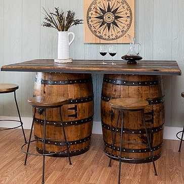 Vintage Whiskey Two Barrel Bar