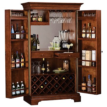Cheverny Metal Inlay Bar Cabinet Wine