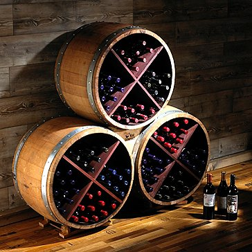 Reclaimed Half Barrel X Wine Rack (Set of 3)
