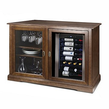 Siena Mezzo Wine Credenza (Walnut) with Wine Refrigerator