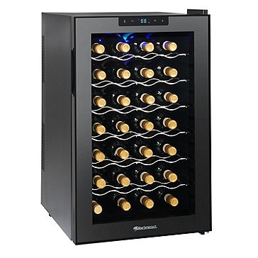 Wine Enthusiast Silent 28 Bottle Touchscreen Wine Refrigerator