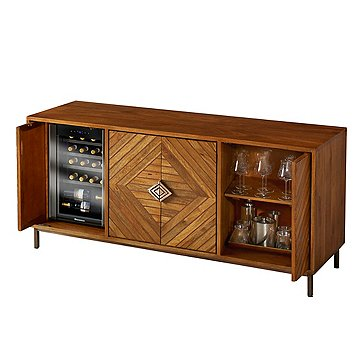 Cheverny Metal Inlay Sideboard with Wine Refrigerator