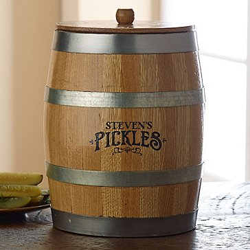 Personalized Pickling Barrel