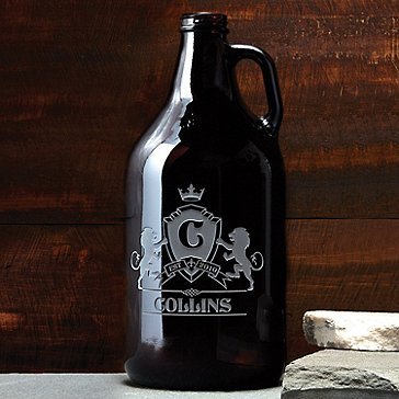 Personalized Family Crest Beer Growler
